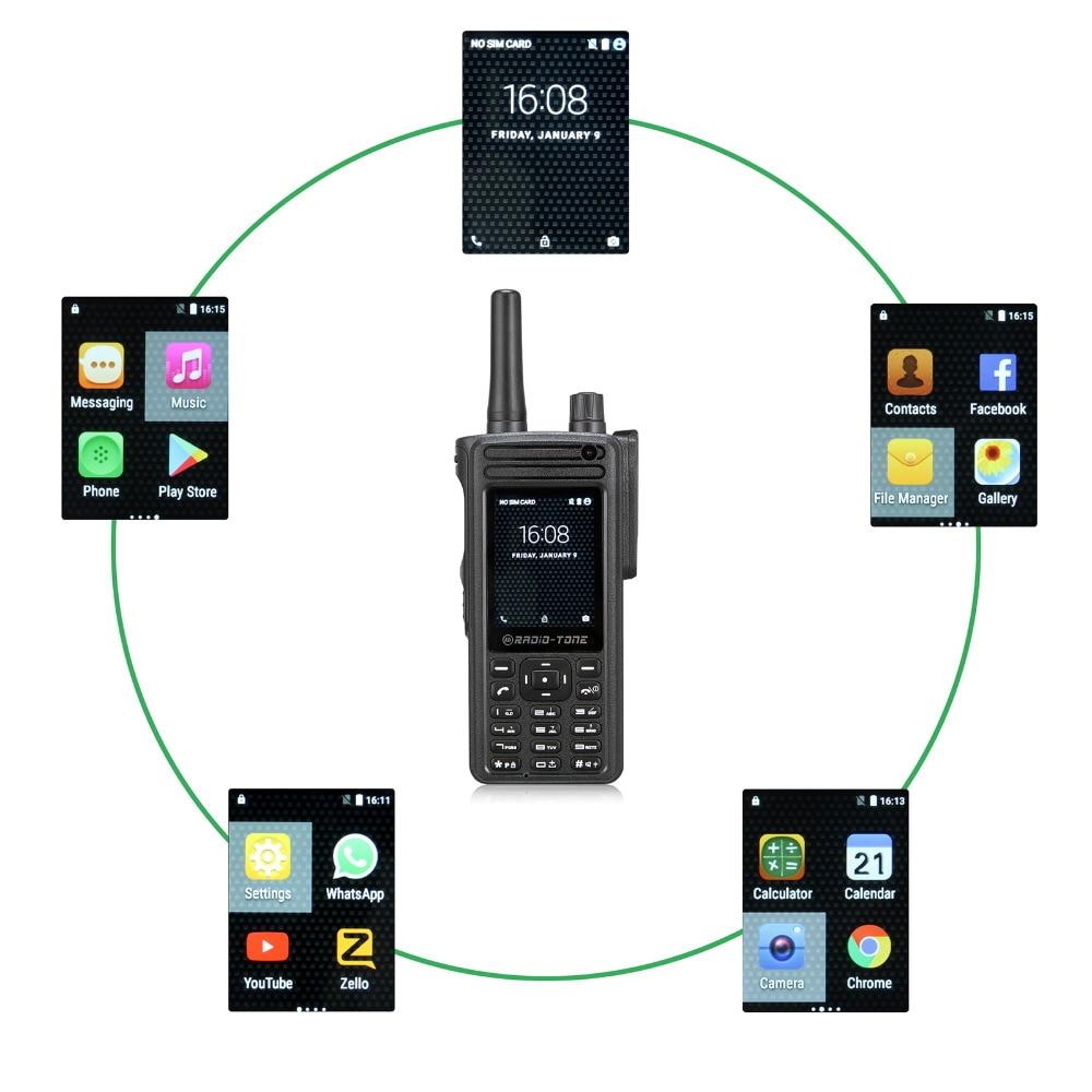 RT4 Radio tone Android 6 0 wifi PTT Zello azetti Smartphone Interphone 4G LTE