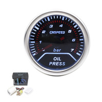 Free Shipping Oil Press Gauge 2 52mm Oil Pressure Gauge 0 7 Bar SENSOR SMOKE LEN