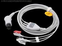 2017 شحن مجاني قطعة واحدة ecg 3 leadwire ، ecg العادي 6 دبوس الكوع مقطع/المشبك الطباع ecg cable ل رصد آها. tpu