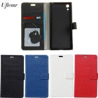 Sony Xperia XA1 Uftemr Kılıfları Manyetik Hakiki Deri Kapak Sony XA1 Için cüzdan Kapak Kılıf Cep telefonu kılıfı Kart Yuvası