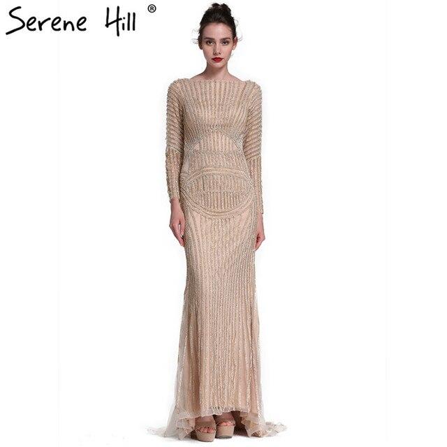 Sexy Backless Besondere Anlässe Meerjungfrau Diamant Abendkleid Gold ...
