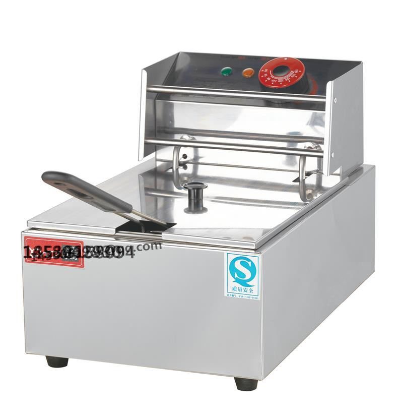 Фотография Stainless stee kitchen and restaurant equipment Desktop 2500W 6L electric deep fryers with CE