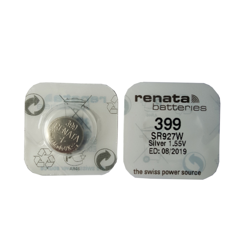 2pcs/lot RENATA Swiss 399 SR927W 1.55V For Watch Silver Watch Batteries