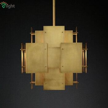 Amerikanische Post Moderne Metall Led Pendelleuchte Luxus Wohnzimmer Hängen Lampe Lustre E14 Führte Auszusetzen Lampe Loft RH Anhänger Licht