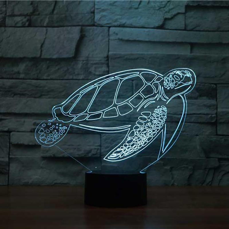 Sea Turtle LED Night Light 3D Bedside Table Lamp 7 Colors Changing Baby Sleep Lighting Lampara Light Fixture Decor Kids Gifts 3d luminous ice hockey player shape led table lamp 7 colors changing home living room decor light fixture baby sleep night light