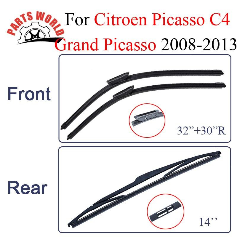 Wischer Klingen Für Citroen C4 Grand Picasso 2008-2013 Gummi Vorne Und Heckscheibe Auto Wipers Car Zubehör Pinsel