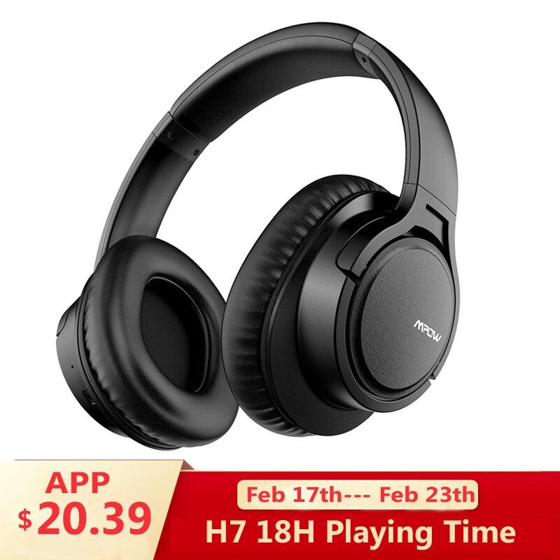 Mpow H7 Sans Fil/Filaire Casque Bluetooth Casque avec Microphone Pour Tablet TV PC Mobile téléphones Avec Protéines Doux Coussinets