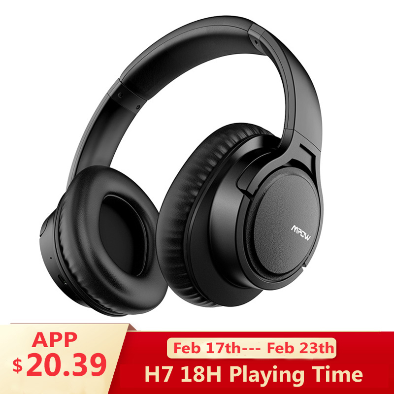 Mpow H7 Wireless/Wired Headphones Bluetooth Headset with Mic