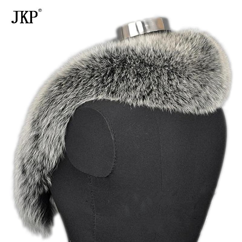 Zimske ženske stvarne krznene ovratnice od lisice, krznene kapice - Pribor za odjeću - Foto 3