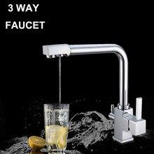 Фильтр для воды кран вода Высокое Качество Фильтрованной Воды и Горячей/Холодной Воды Раковина Смеситель для кухни 3 Способ кухонный кран смесителя