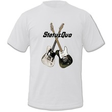 Print Logo On Shirt Men'S Status Quo Band Album On The Level District Short Sleeve Fashion Crew Neck T Shirts