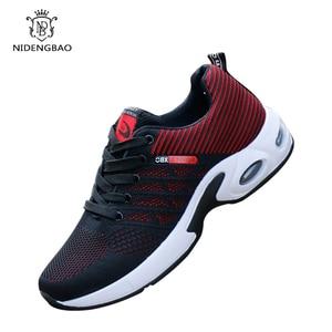 Image 4 - Oddychające męskie obuwie wygodne trampki amortyzujące buty męskie Zapatillas Deportivas Hombre Sapato Masculino Krasovki