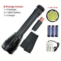 High Power LED Flashlight 18650 Ultra Bright T6 Flash Light Waterproof Torch 5 Modes Flashlights XML