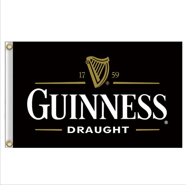 90x150cm 3x5ft Guinness Beer Sports Flag Banner Collection Draught Beer Indoor/Outdoor Home Wall House Decoration
