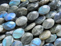 Free Shipping Natural Labradorite 13 18mm Faceted Oval Shape Stone Beads For Jewerlry Making