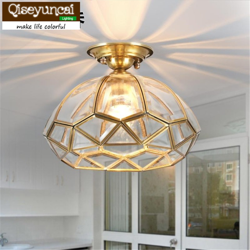 Qiseyuncai American style classical  full copper ceiling lamp rural style corridor lamp high end lamps and lanterns savarez 510 cantiga series alliance cantiga normal high tension classical guitar strings full set 510arj