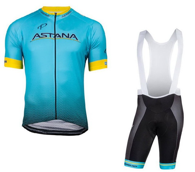 63e929c082f 2018 ASTANA PRO TEAM Men's Cycling Jersey Short Sleeve Bicycle Clothing  With Bib Shorts Quick-Dry Ropa Ciclismo