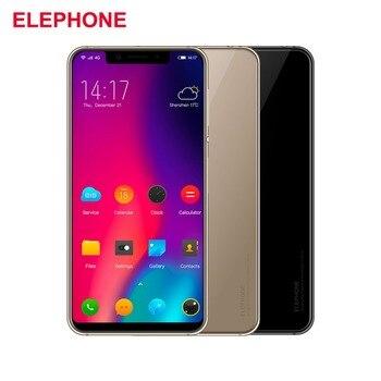 Cargadores de coche Elephone A4 4G Android 8,1 teléfono móvil 5,85 ''19: 9 Smartphone cara desbloquear huella digital 3 GB 16 GB teléfono móvil Quad OTG teléfono inteligente