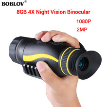BOBLOV HD 4X35 Infrared Digital Night Vision Scope Monocular Telescope for Hunting Scouting Night Camera Handheld Device