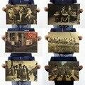 В '60 s Ретро Ностальгия Крафт-Бумага, семья Украшает Плакат, Бумага Ремесла Старинные Плакат Стикер Стены 51X35.5 СМ