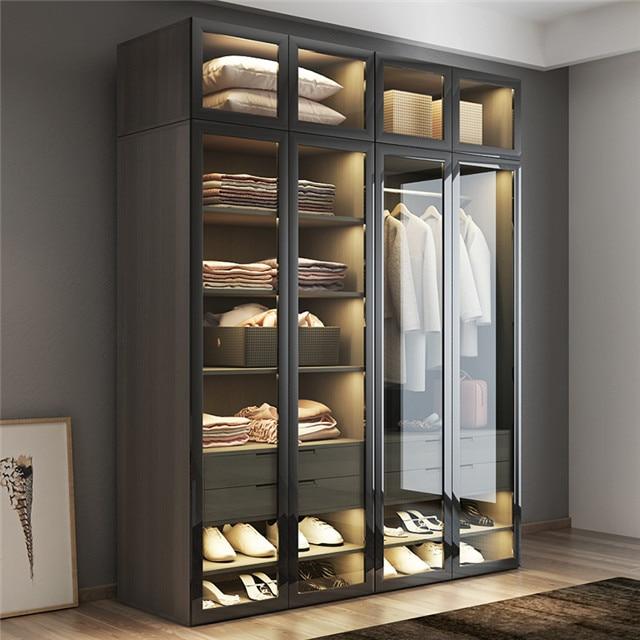 Индивидуальный гардероб, модные стеклянные двери