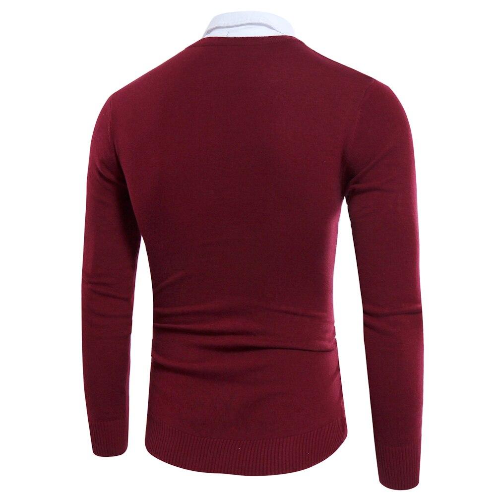 Gefälschte Zwei Stücke Männer Pullover 2017 Stil Shirts Kragen - Herrenbekleidung - Foto 5