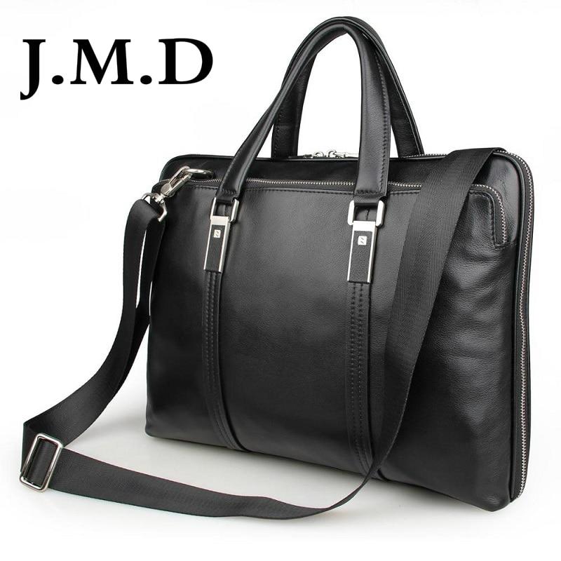 J.M.D 2017 New Arrival 100% Leather Briefcases Men's Cow Leather Messenger Shoulder Bag Handbags 7326