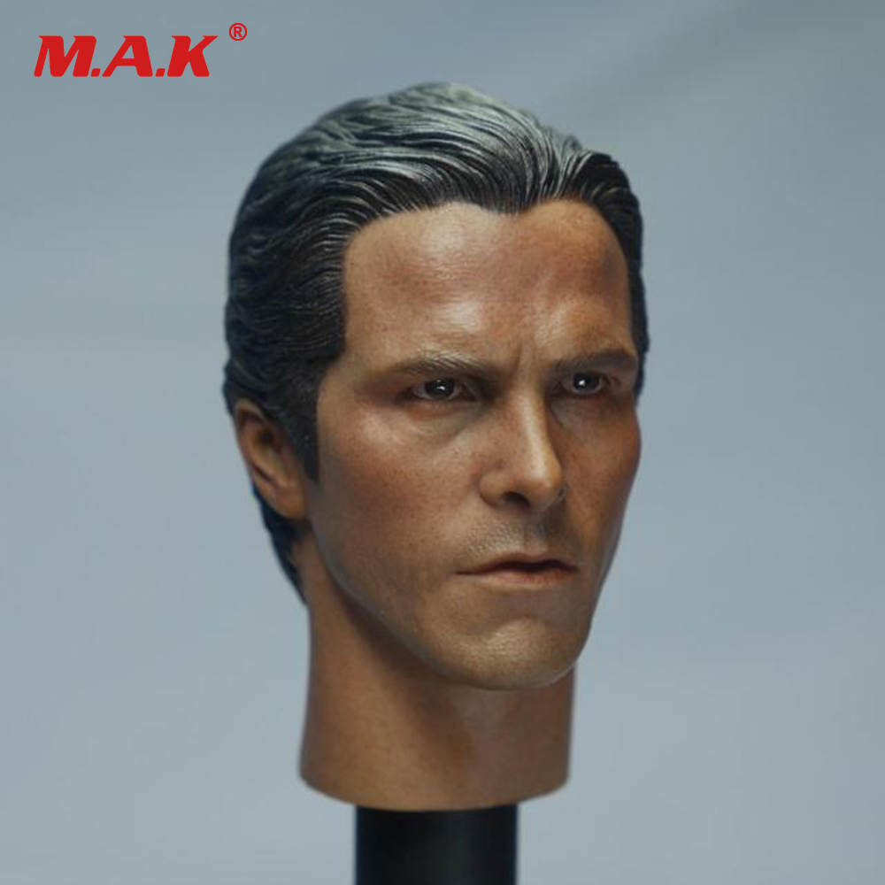 1/6 Scale Batman Christian Bale Head Sculpt SO-010 Male Head Carving For 12 Body Figures Collections