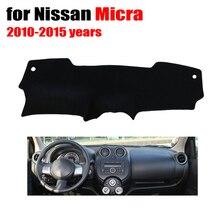 Tampa Do painel do Carro mat para Nissan MICRA RKAC 2010 a 2015 anos da movimentação da mão Esquerda dashmat pad traço cobre painel acessórios