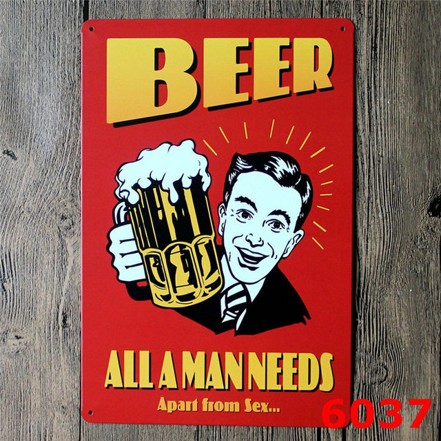 Beer Will Change the World Retro Vintage Metal Tin Sign MADE in the USA