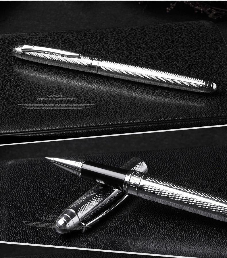 1пцс / лот Висококвалитетна оловка 10 Марка Сребрни прибор за канцеларијски школски прибор Цлип 0.7мм Поклони за мушкарце 13.8 * 1.0цм