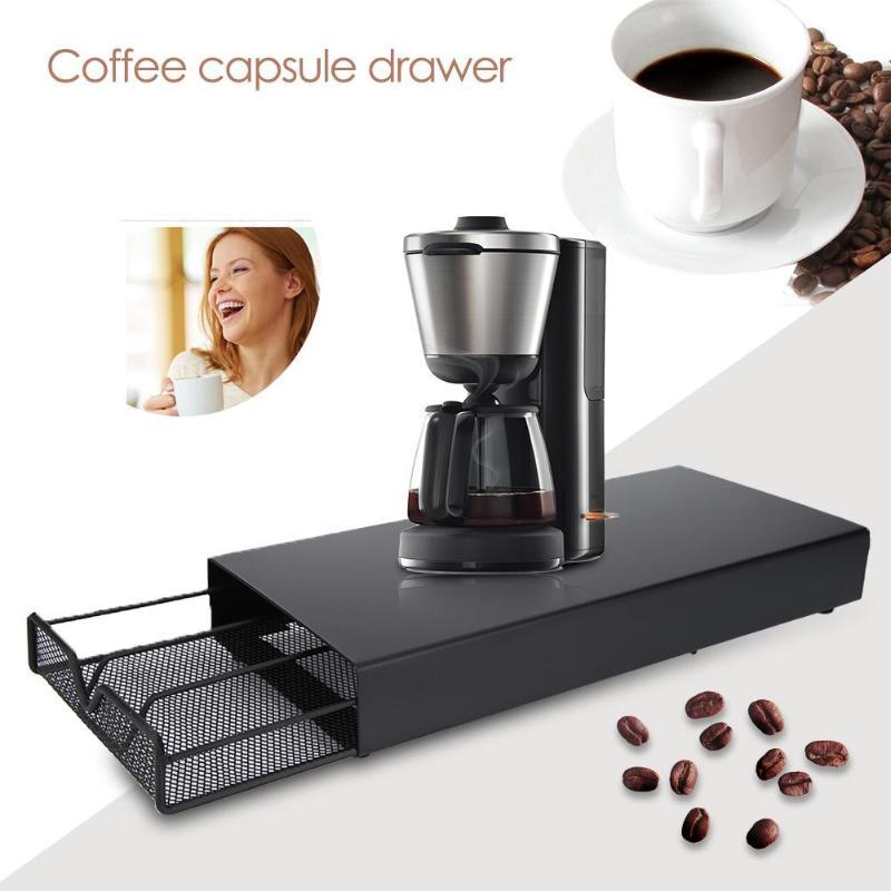 Nespresso Drawer Storage 40 Nespresso Capsules Coffee Pod Holder Stand Kitchen Metal Shelves Organization Drawer Free Shipping