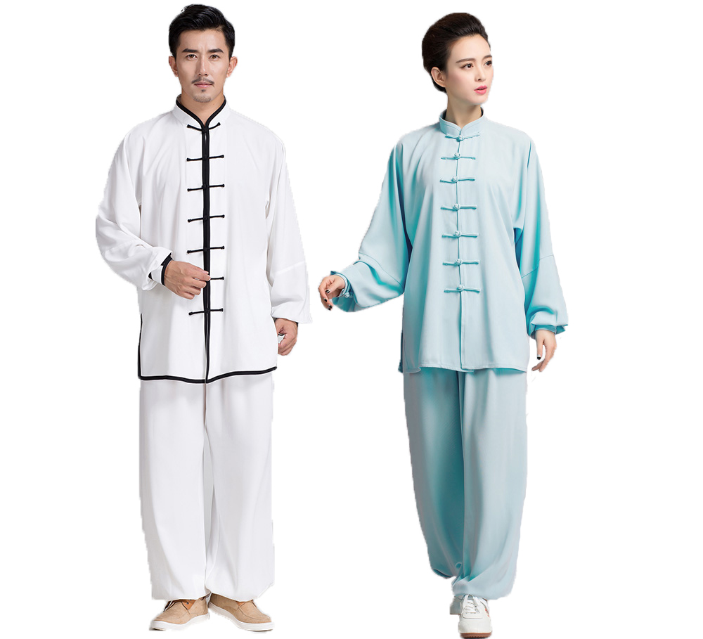 2018 Spring Autumn Cotton Rayon Taichi Morning Exercise Uniform Long Sleeve Performance Kungfu Costume Suits For Men And Women