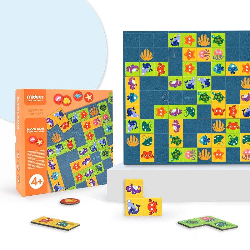 Micerf océan aventure papier Puzzles découverte amusant Art bureau Solitaire jeux éducatifs jouets pour enfants 4Y +