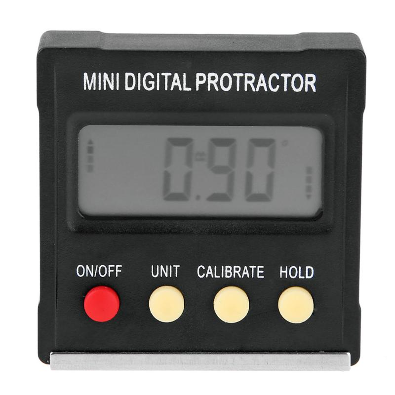 Mini Digital Inclinometer Electronic Protractor Magnetic Base 360 Degrees LCD Bevel Box Level Measuring Tool Angle Gauge Meter free shipping mini digital protractor bevel inclinometer box 0 360 stdjt 1201q