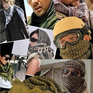 Image 3 - Cachecóis Shemagh militar Multifunction Tactical cabeça de algodão Lenço quadrado Islâmico Árabe Keffiyeh Palestina Envoltório Bandana Sq303