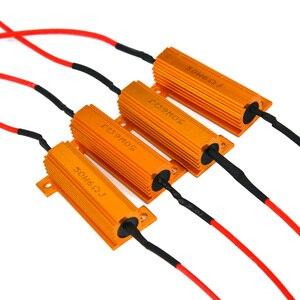 10 sztuk LED Turn rezystor obciążenia 50W 6 OHM Fix błąd światła hamowania błąd Canceller 50*15mm nadaje się do wszystkich modeli samochodów...