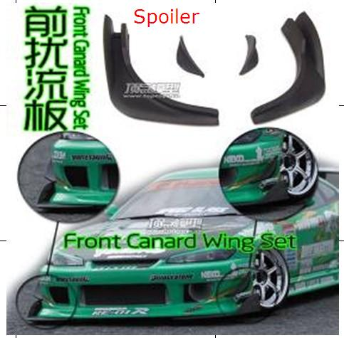 Ewellsold front canard wing set/spoiler for 1/10 RC racing car free shipping