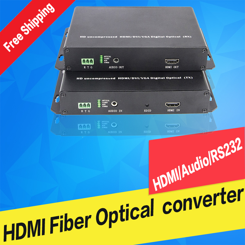 HDMI  Optical Transmitter And Receiver With USB Mouse And Keyboard Extender Single Mode Single Fiber 10km 1080P KVM