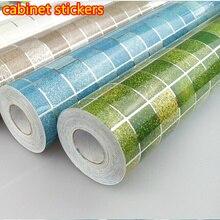 Foil Self-adhensive Anti Oil Wallpaper for Kitchen wall High Temperature resistant wall stickers heatresisting lampblack paper