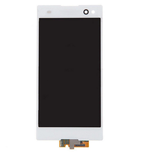 ФОТО 10PCS/LOT  LCD Display Screen touch Digitizer Assembly  For Sony Xperia C3 D2533 D2502 white