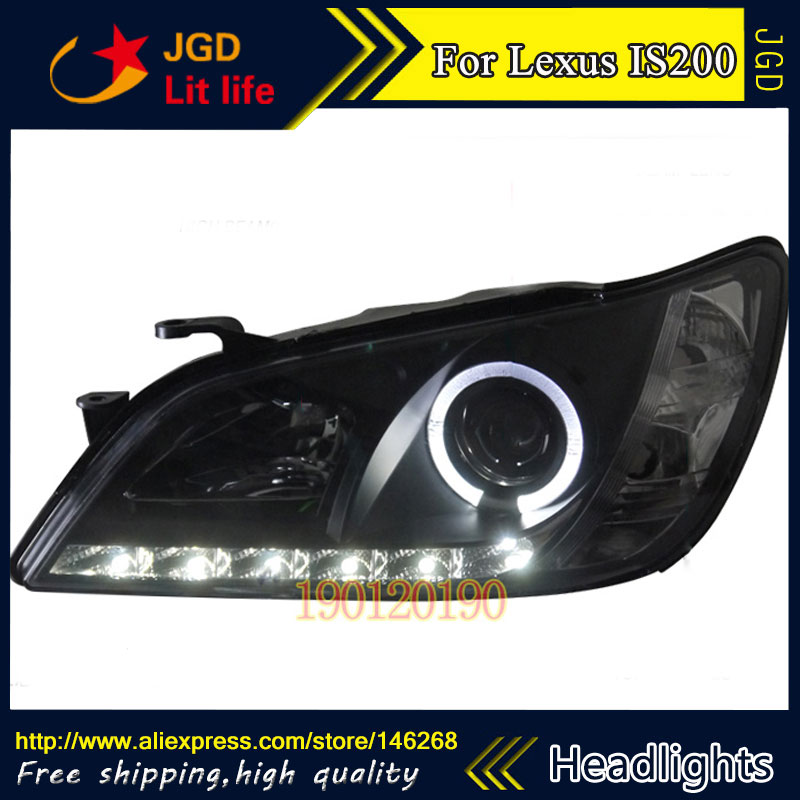 HID LED headlights headlamps HID Hernia lamp accessory products case for Lexus is200 is300 1998-2005 Car styling free shipping hid rio led headlights headlight headlamps hid hernia lamp accessory products for great wall haval h3 2005 2010