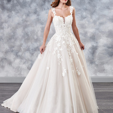 HIRE LNYER Ivory Tulle Wedding Dress Plus Size Backless