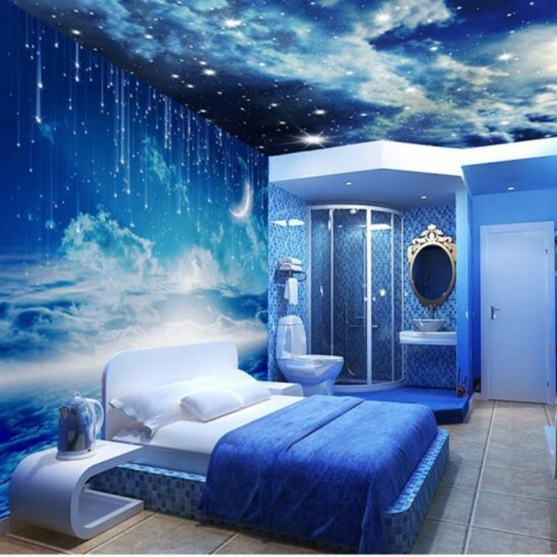 Popular galaxy wallpaper buy cheap galaxy wallpaper lots for Custom mural cost