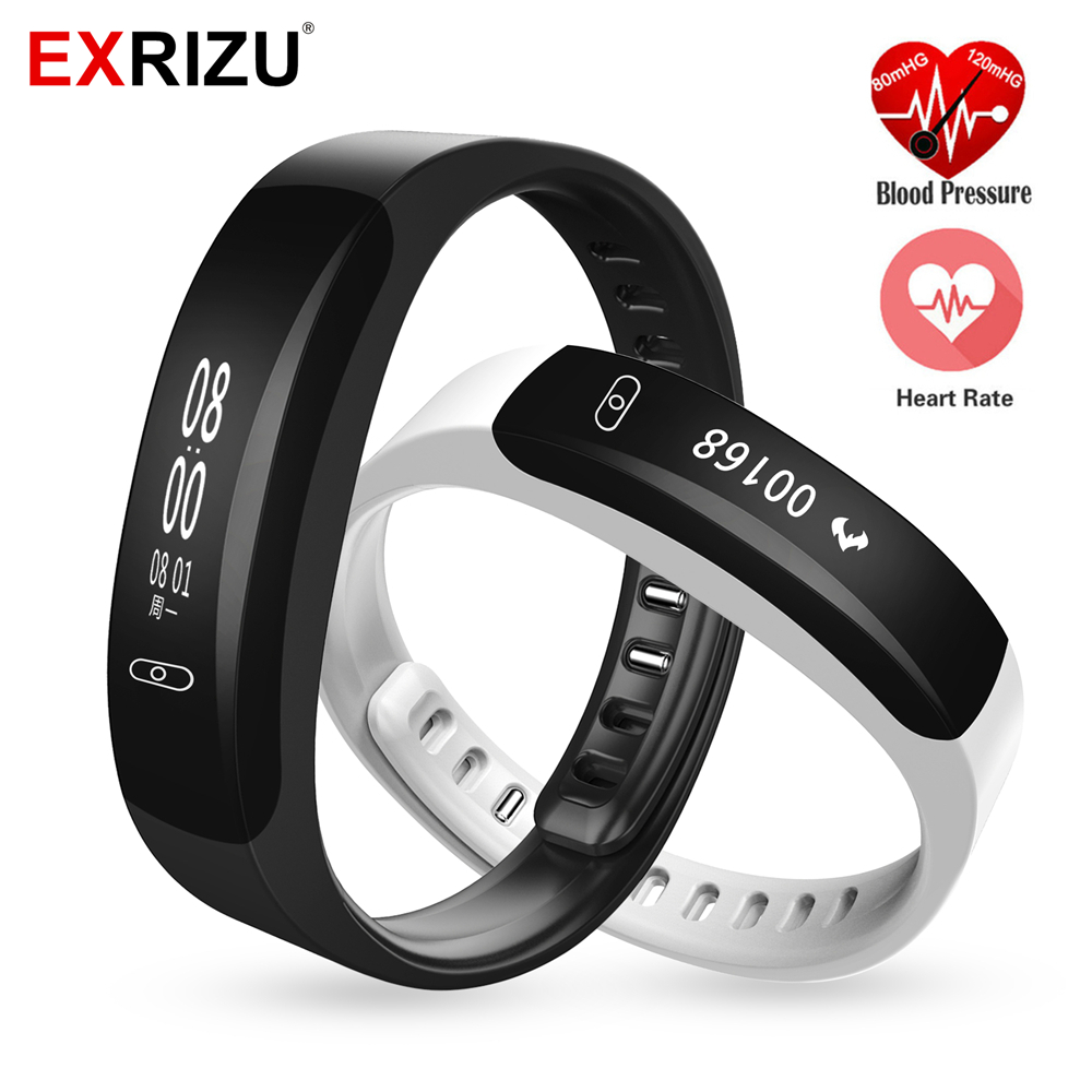 EXRIZU K8 Smart Band Blood Pressure Monitor Pulse Meter Heart Rate Wristband Fitness Tracker Smartband SMS