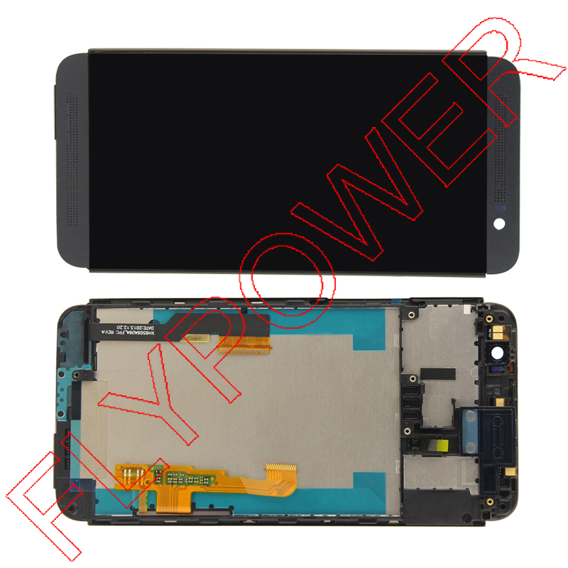 ФОТО For HTC One E8 LCD display screen with touch screen digitizer + Frame assembly Black by free shipping