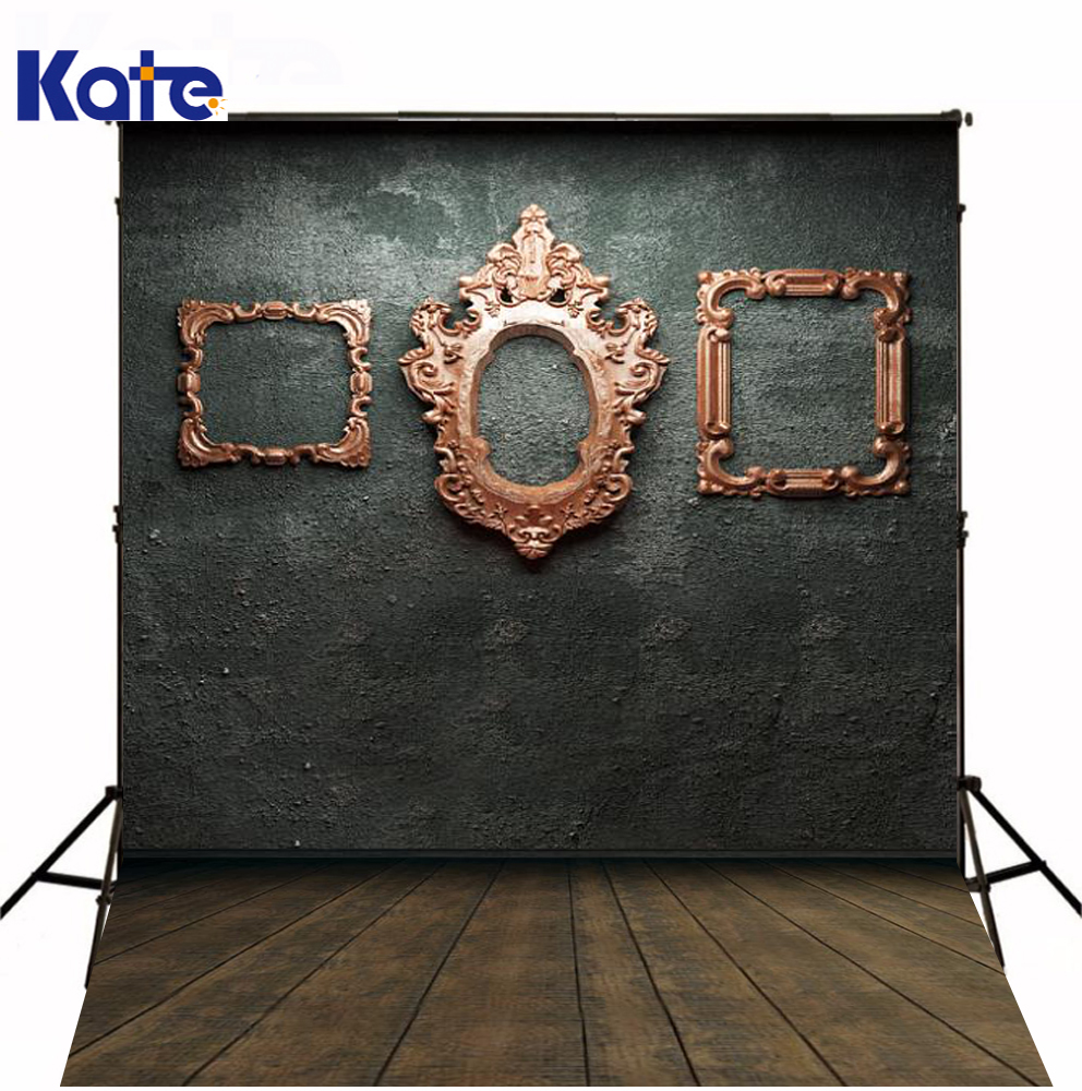 Kate Photography Backdrops Wood Retro Frame Wall Wooden Floor Photo Backdrop For Children Photographic Background kate digital printing photography backdrop brick wall wood floor background colorful flags for children backdrop wood background