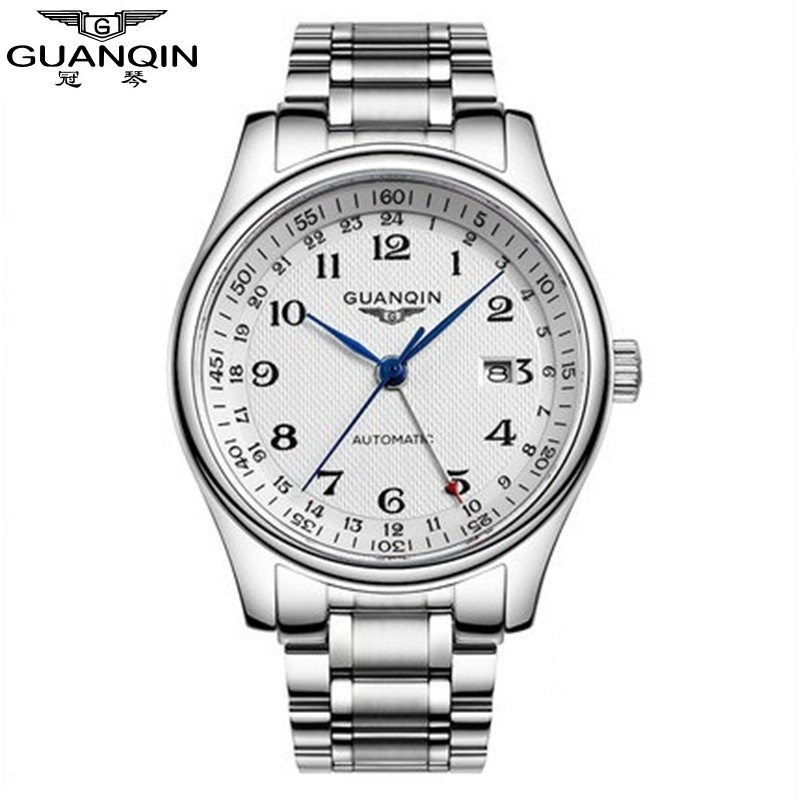 Original Brand GUANQIN Watch Men Mechanical Watch 30m Waterproof GUANQIN Watch Men Luxury Business Men Watch Male Wristwatches guanqin gq70005 men auto mechanical watch