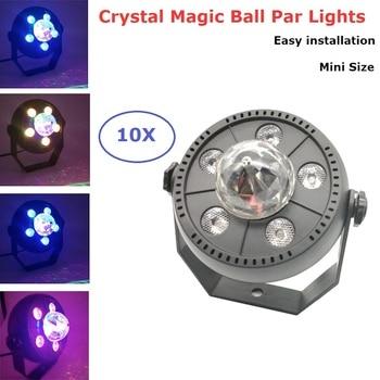 10XLot LED Stage Light RGB Crystal Magic Ball Bulb DMX Par Light AC90-240V Disco Club Party Lights Home Party Entertainments Use