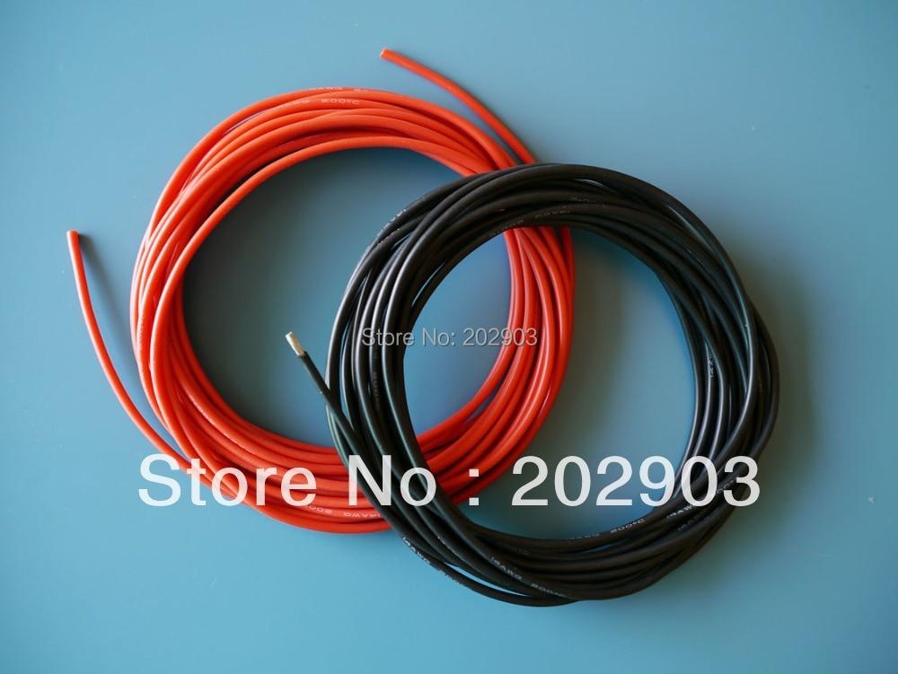 1meter Red+1meter Black 20# 20 AWG 20AWG Heatproof Soft Silicone ...